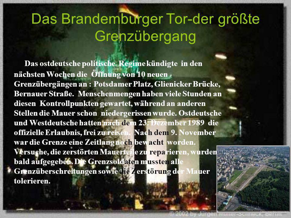 Das Brandemburger Tor-der größte Grenzübergang