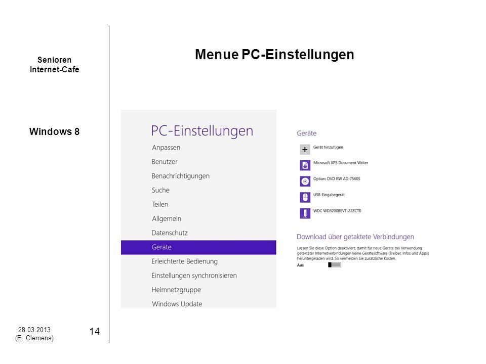 Menue PC-Einstellungen