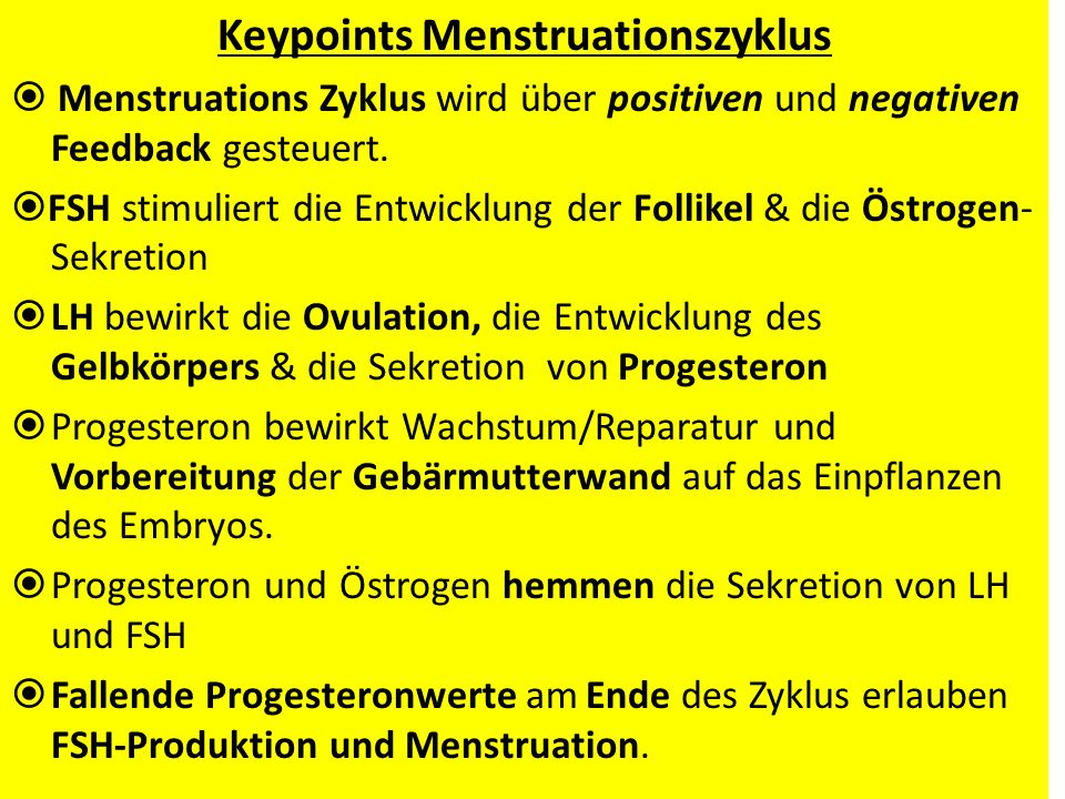 Keypoints Menstruationszyklus