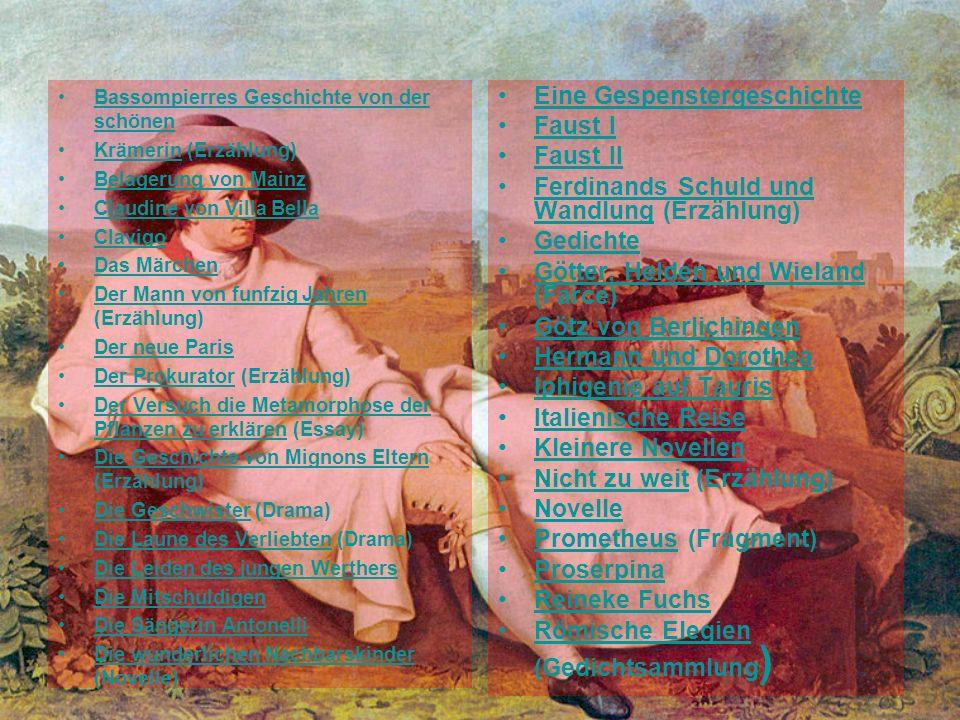Eine Gespenstergeschichte Faust I Faust II