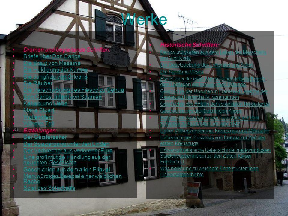 Werke Historische Schriften: Dramen und begleitende Schriften: