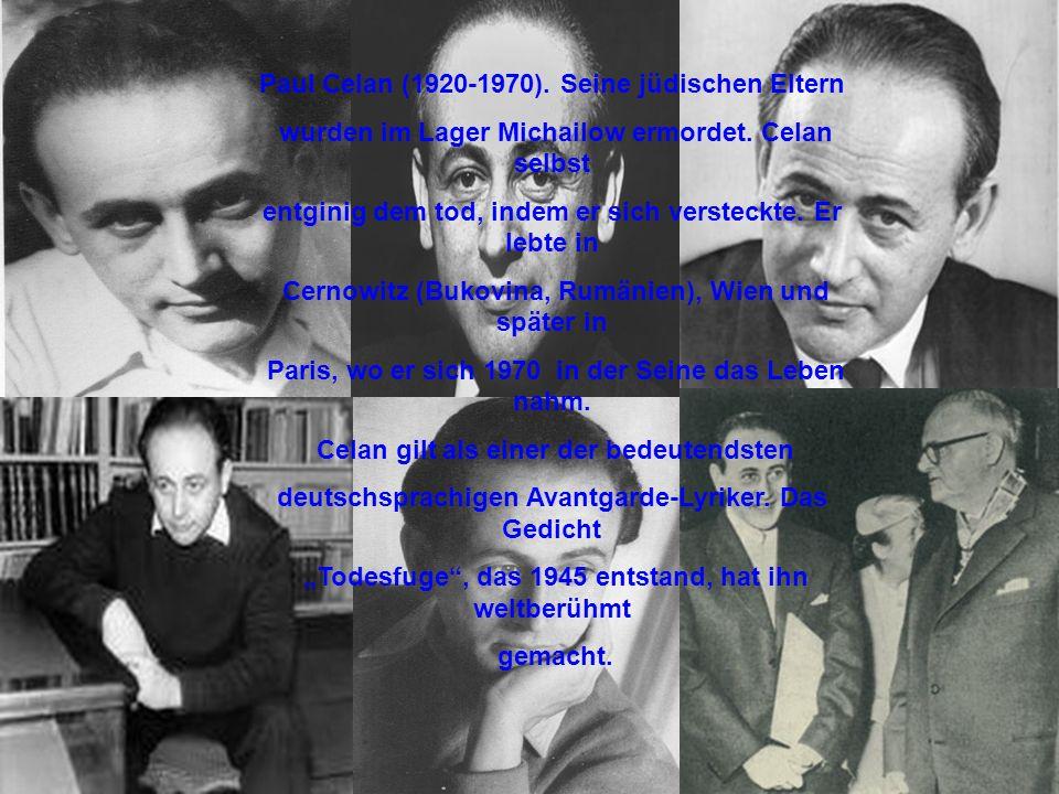 Paul Celan (1920-1970). Seine jüdischen Eltern