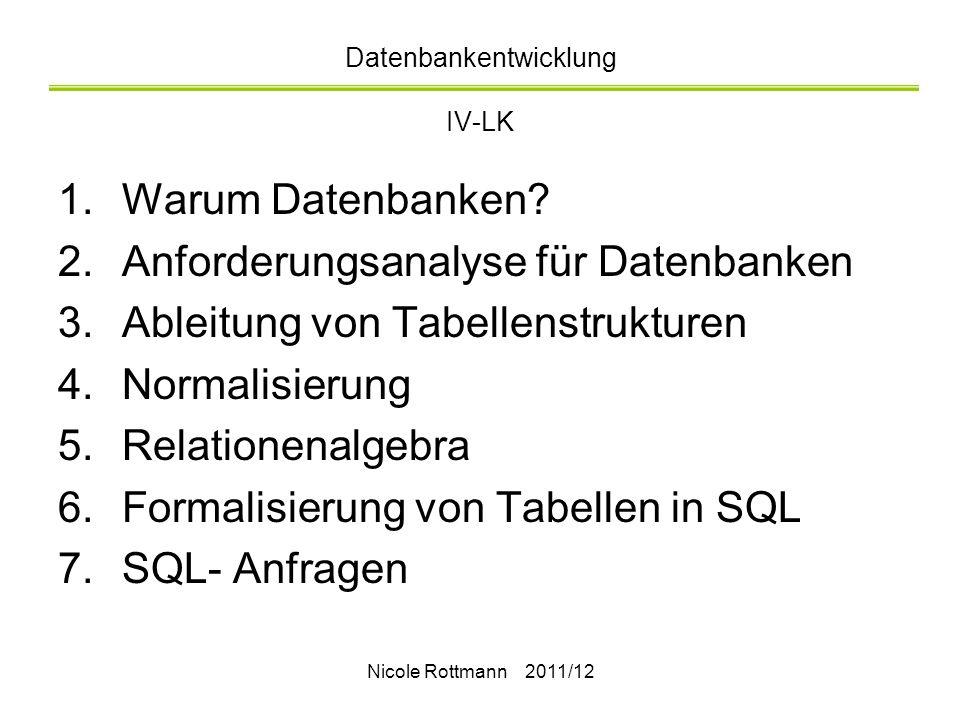 Datenbankentwicklung IV-LK