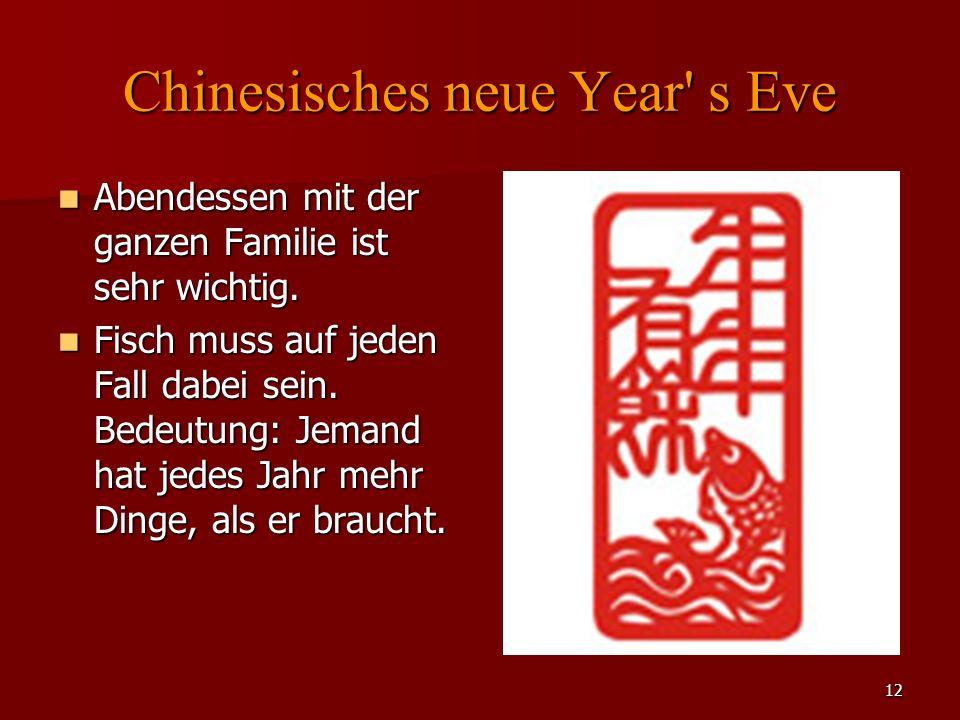Chinesisches neue Year s Eve