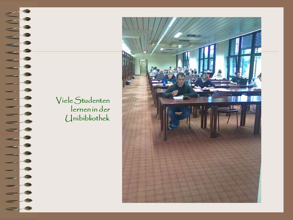 Viele Studenten lernen in der Unibibliothek