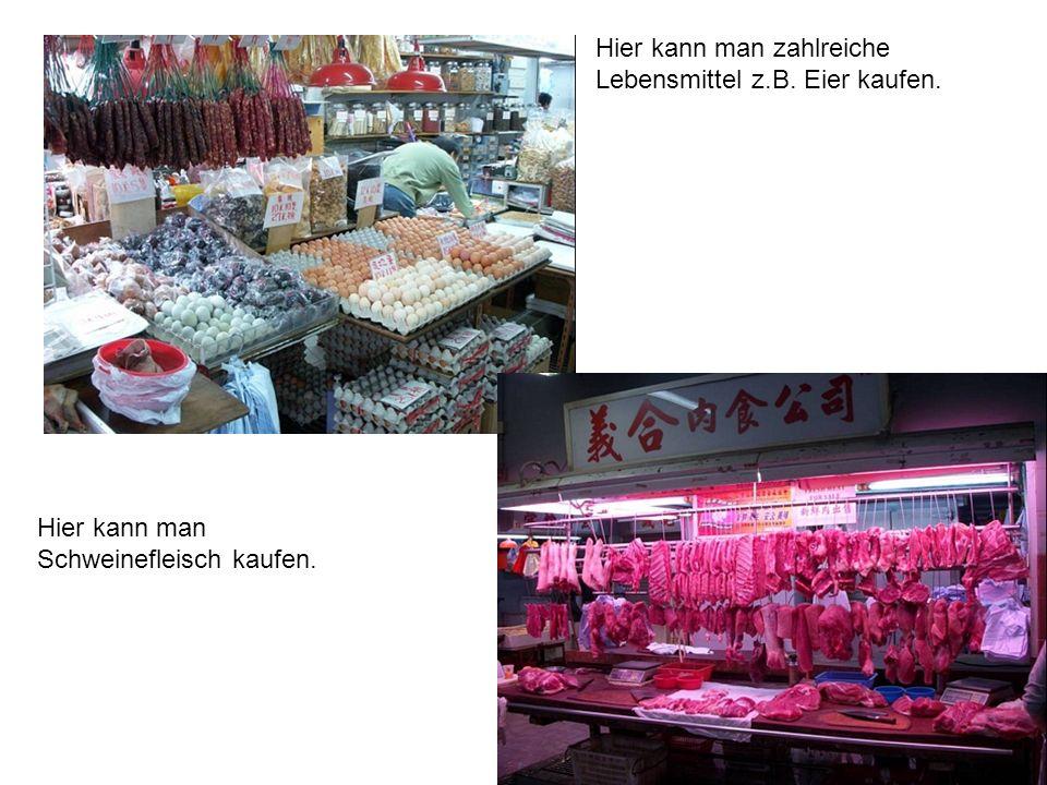 Hier kann man zahlreiche Lebensmittel z.B. Eier kaufen.