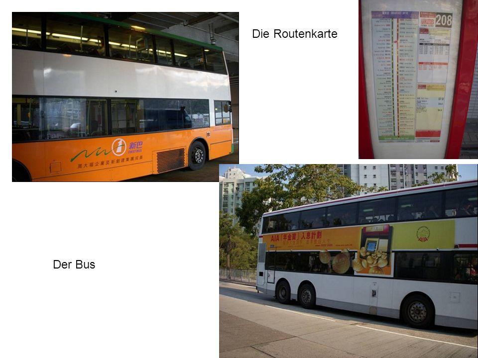 Die Routenkarte Der Bus