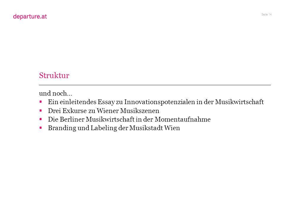 Struktur und noch… Ein einleitendes Essay zu Innovationspotenzialen in der Musikwirtschaft. Drei Exkurse zu Wiener Musikszenen.