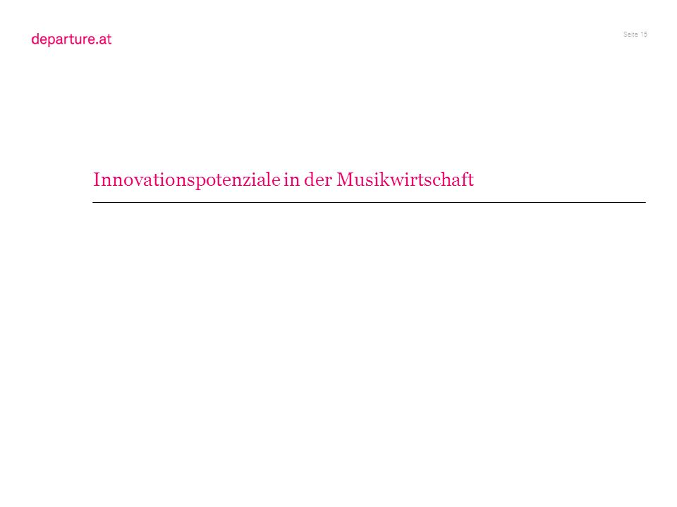 Innovationspotenziale in der Musikwirtschaft