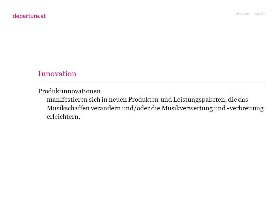 01.01.2010 Innovation.