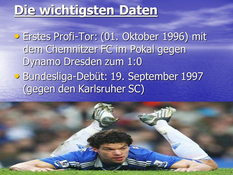 Die wichtigsten Daten Erstes Profi-Tor: (01. Oktober 1996) mit dem Chemnitzer FC im Pokal gegen Dynamo Dresden zum 1:0.