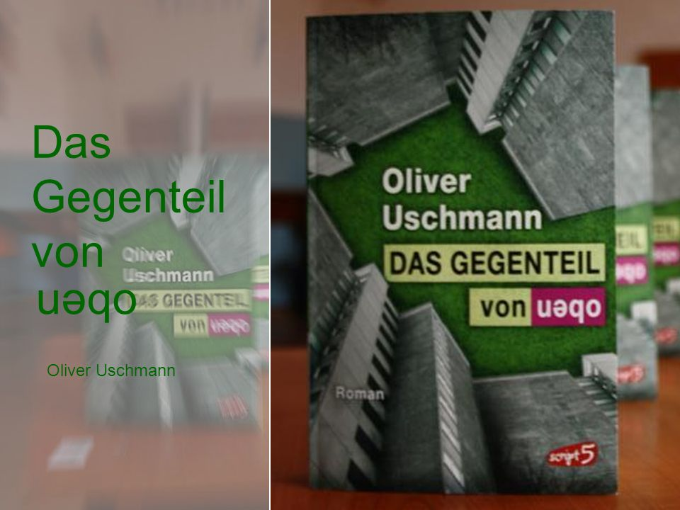 Das Gegenteil von oben Oliver Uschmann