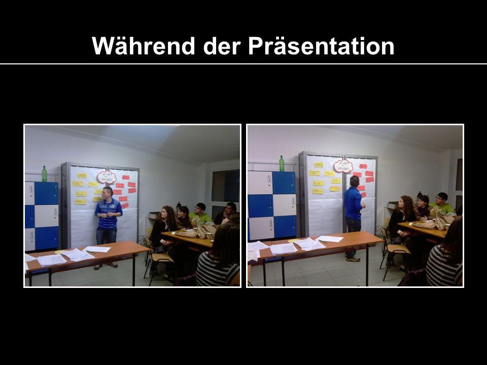 Während der Präsentation