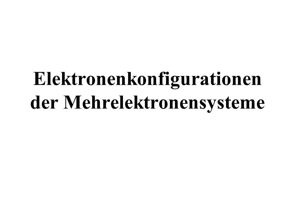 Elektronenkonfigurationen der Mehrelektronensysteme
