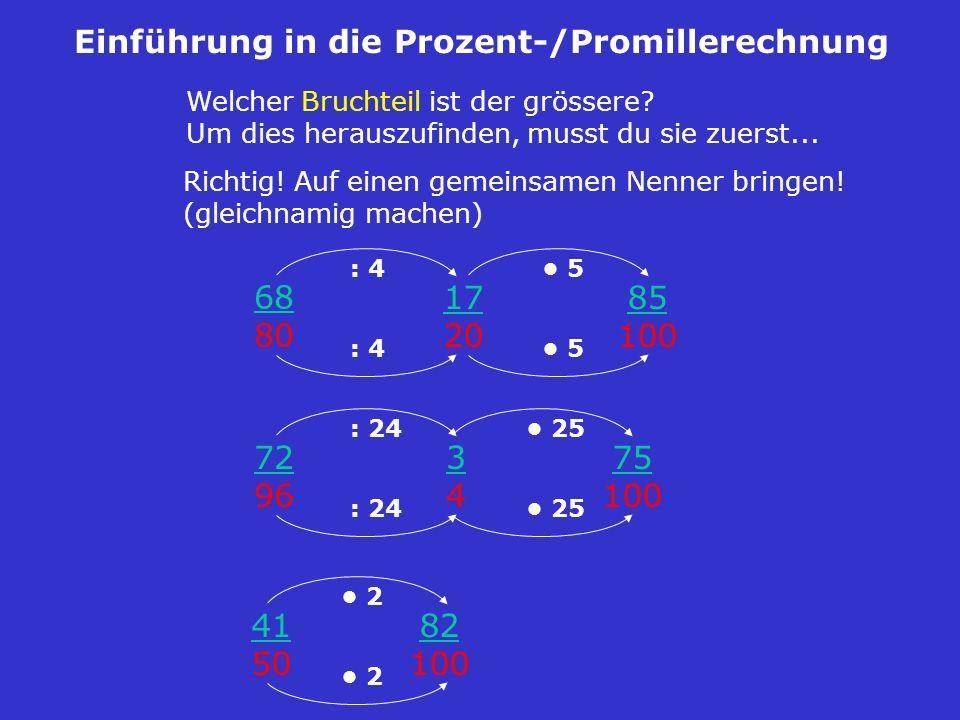 Einführung in die Prozent-/Promillerechnung