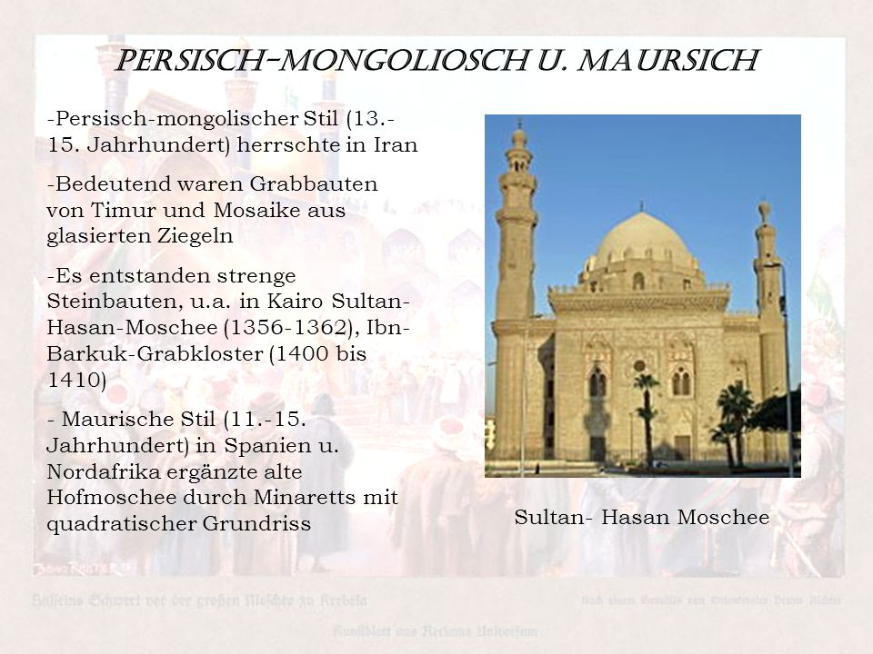 Persisch-Mongoliosch u. Maursich