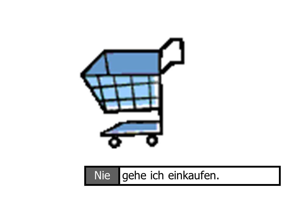 Nie gehe ich einkaufen. Ich gehe einkaufen
