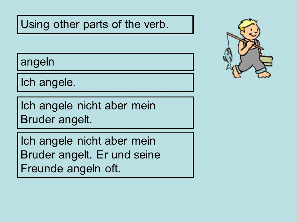 Using other parts of the verb.