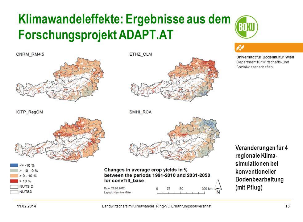 Klimawandeleffekte: Ergebnisse aus dem Forschungsprojekt ADAPT.AT