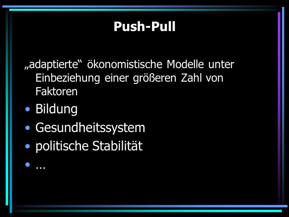 politische Stabilität …