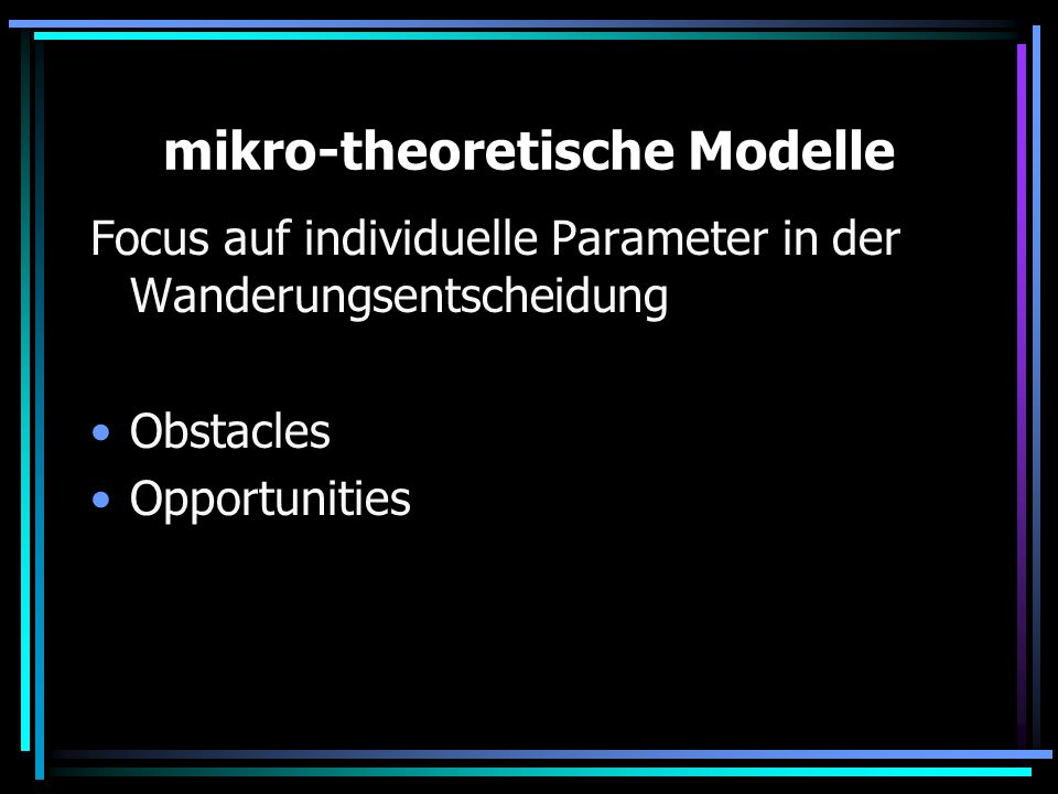 mikro-theoretische Modelle