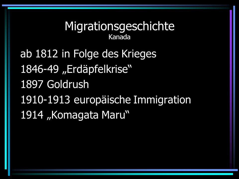 Migrationsgeschichte Kanada