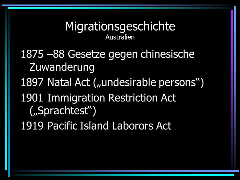 Migrationsgeschichte Australien