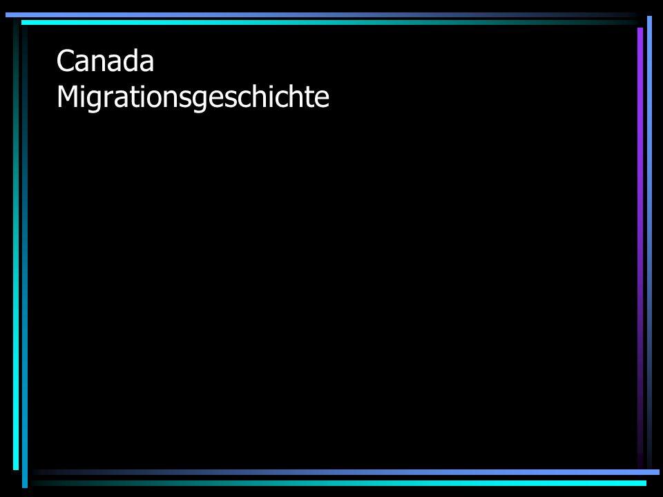 Canada Migrationsgeschichte