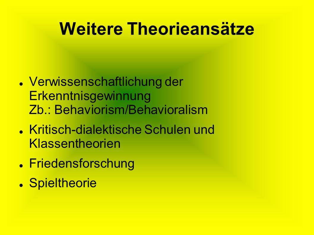 Weitere Theorieansätze