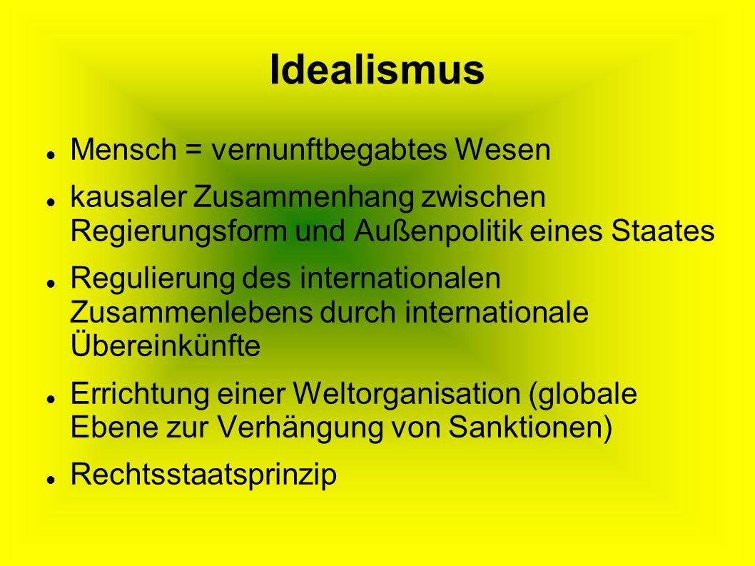 Idealismus Mensch = vernunftbegabtes Wesen