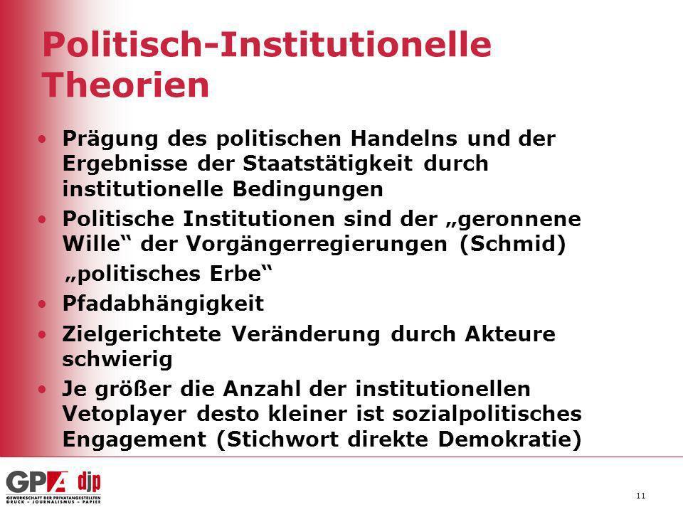 Politisch-Institutionelle Theorien