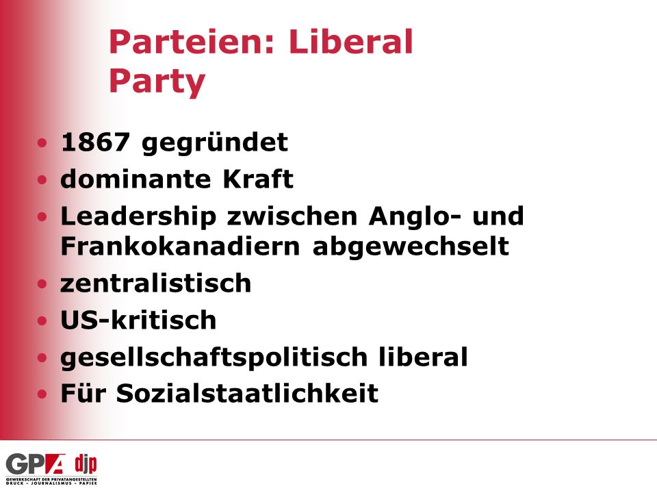 Parteien: Liberal Party