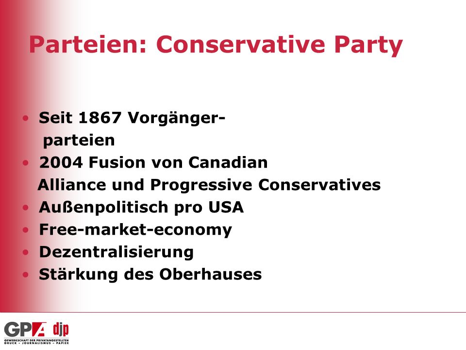 Parteien: Conservative Party