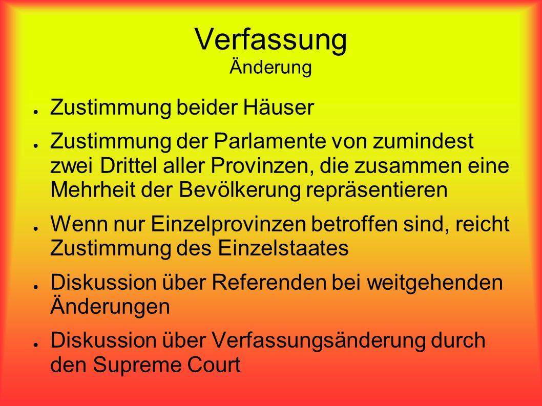 Verfassung Änderung Zustimmung beider Häuser