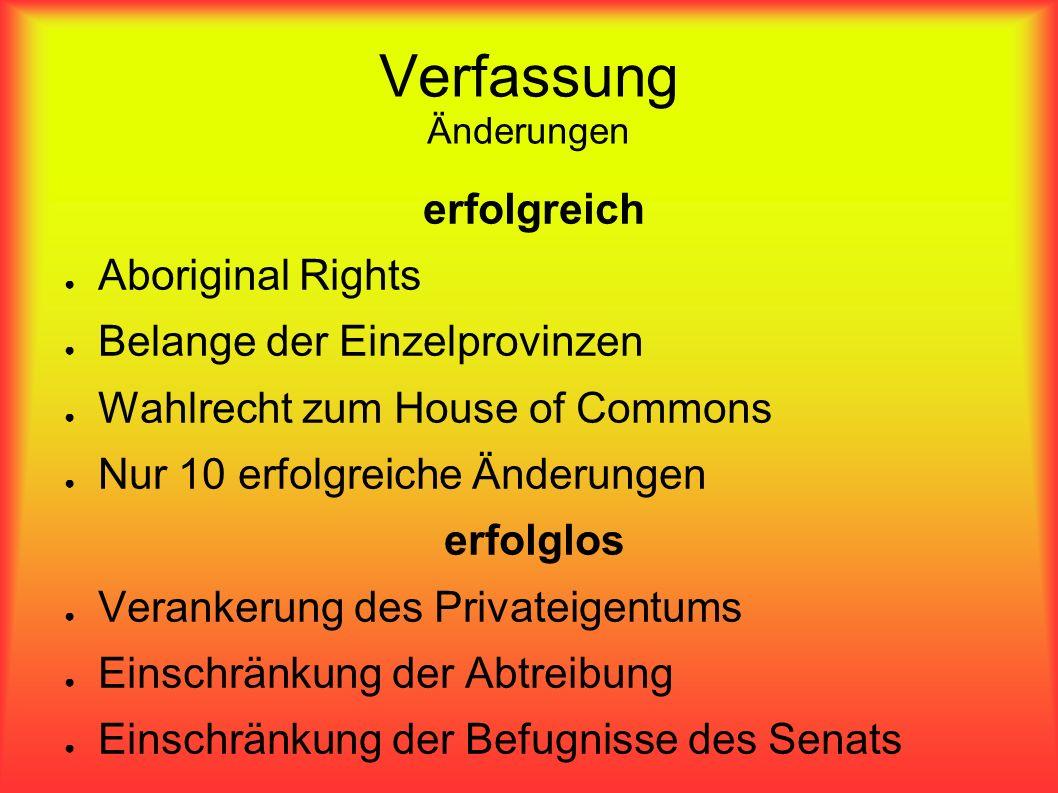 Verfassung Änderungen