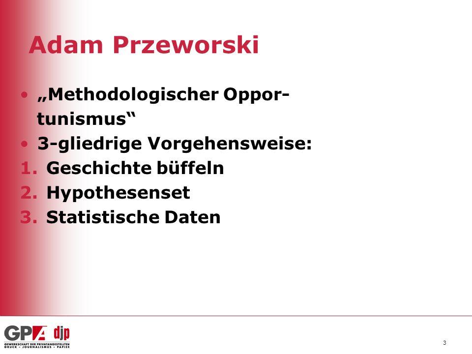 """Adam Przeworski """"Methodologischer Oppor- tunismus"""
