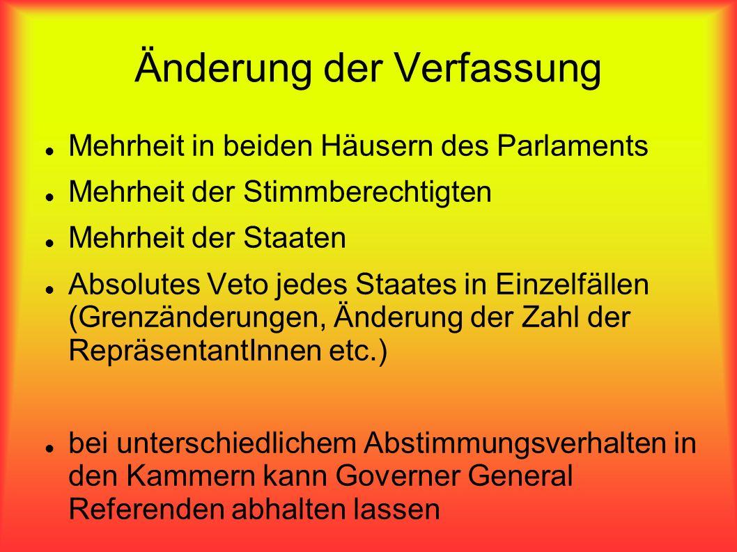 Änderung der Verfassung