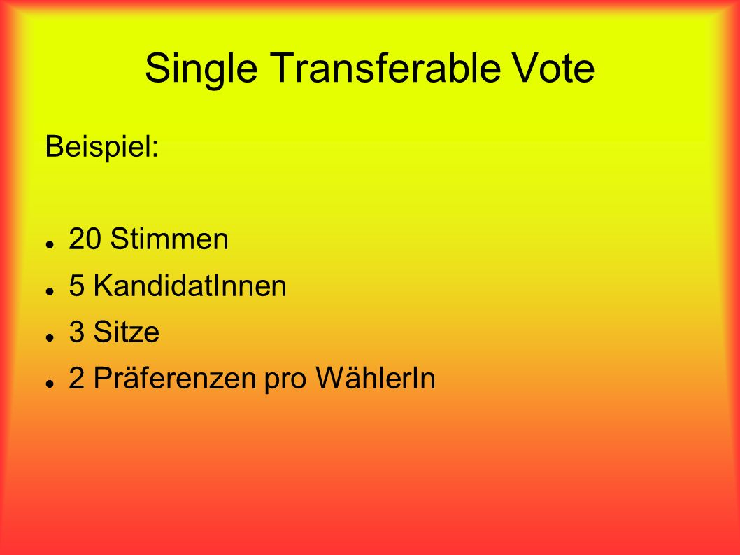 Single Transferable Vote