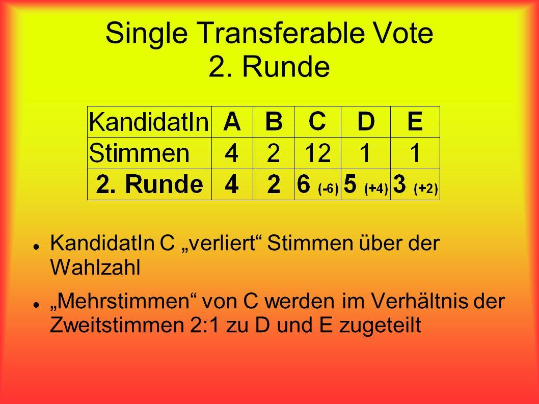 Single Transferable Vote 2. Runde