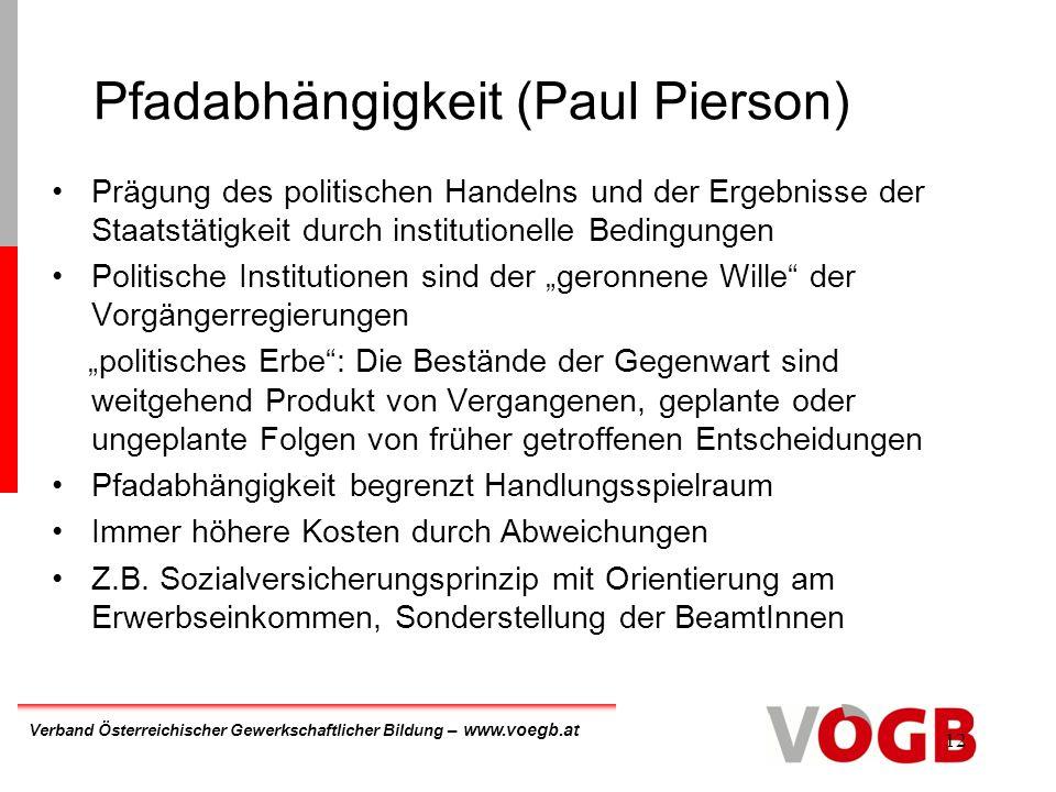Pfadabhängigkeit (Paul Pierson)