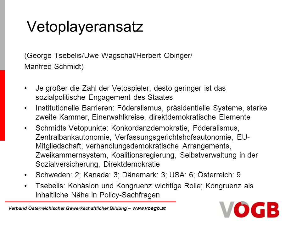 Vetoplayeransatz (George Tsebelis/Uwe Wagschal/Herbert Obinger/