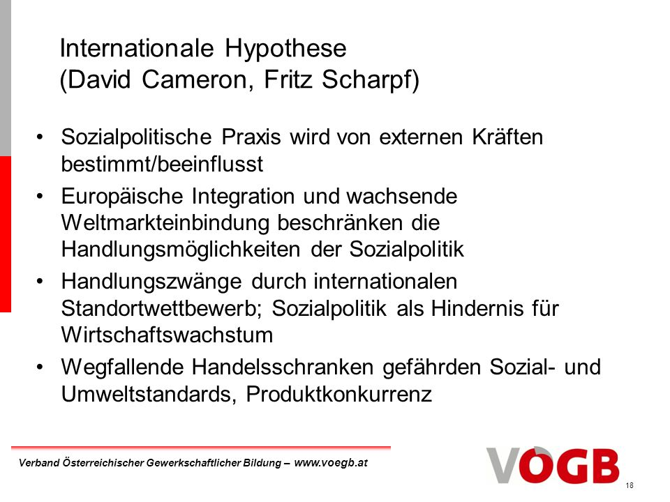 Internationale Hypothese (David Cameron, Fritz Scharpf)
