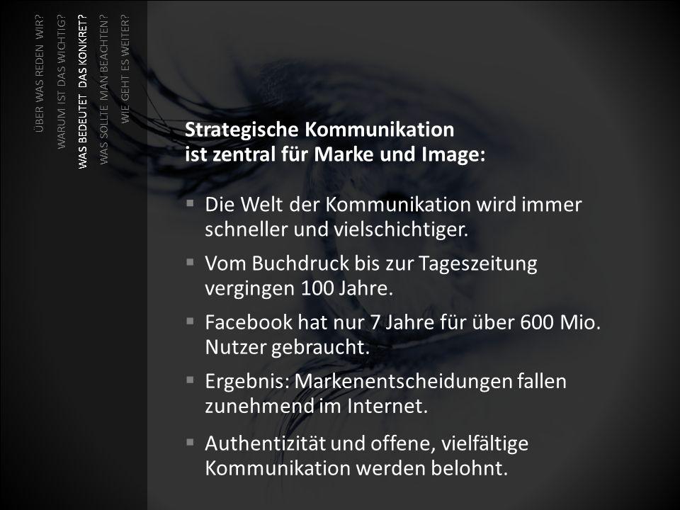 Strategische Kommunikation ist zentral für Marke und Image: