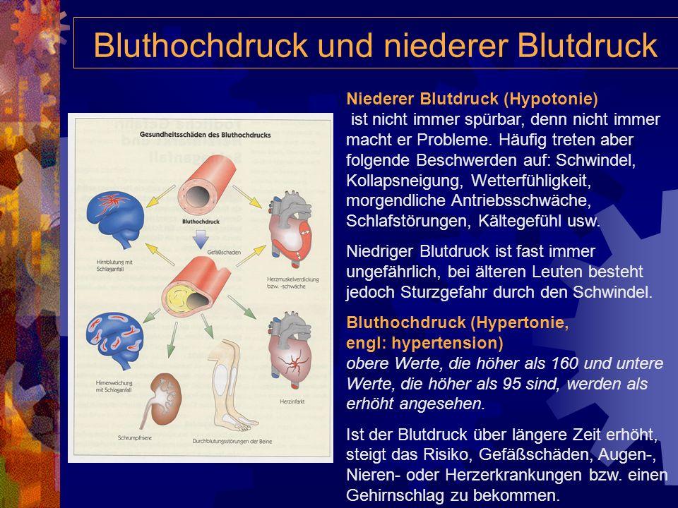 Bluthochdruck und niederer Blutdruck
