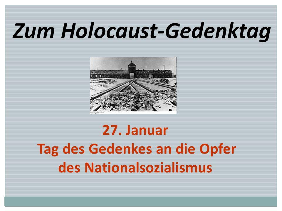 Tag des Gedenkes an die Opfer des Nationalsozialismus