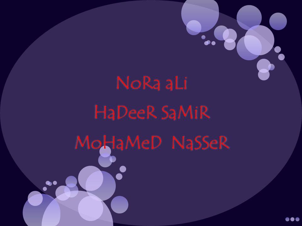 NoRa aLi HaDeeR SaMiR MoHaMeD NaSSeR