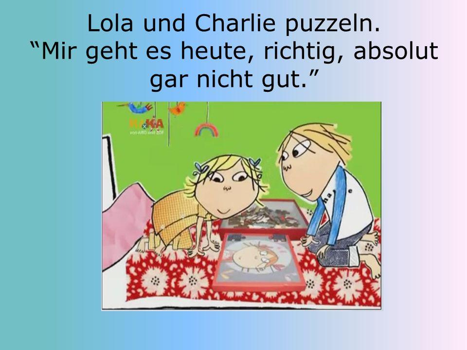 Lola und Charlie puzzeln