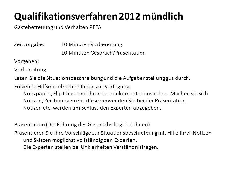 Qualifikationsverfahren 2012 mündlich