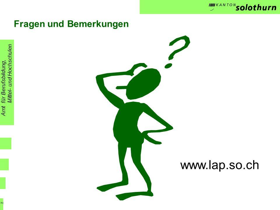 www.lap.so.ch Fragen und Bemerkungen Mittel- und Hochschulen