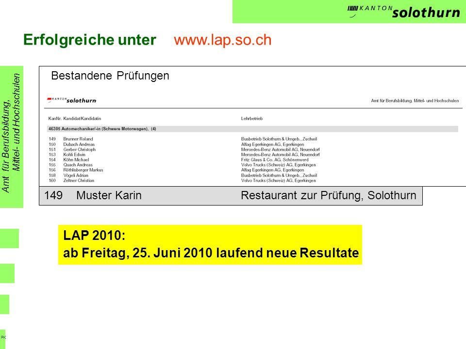 Erfolgreiche unter www.lap.so.ch
